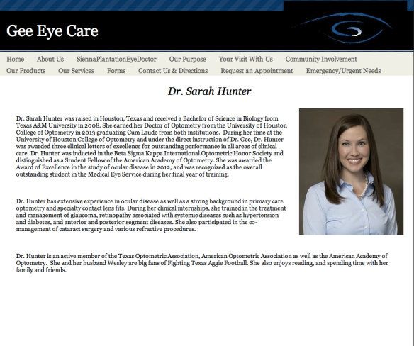 The new GeeEyeCare.com!